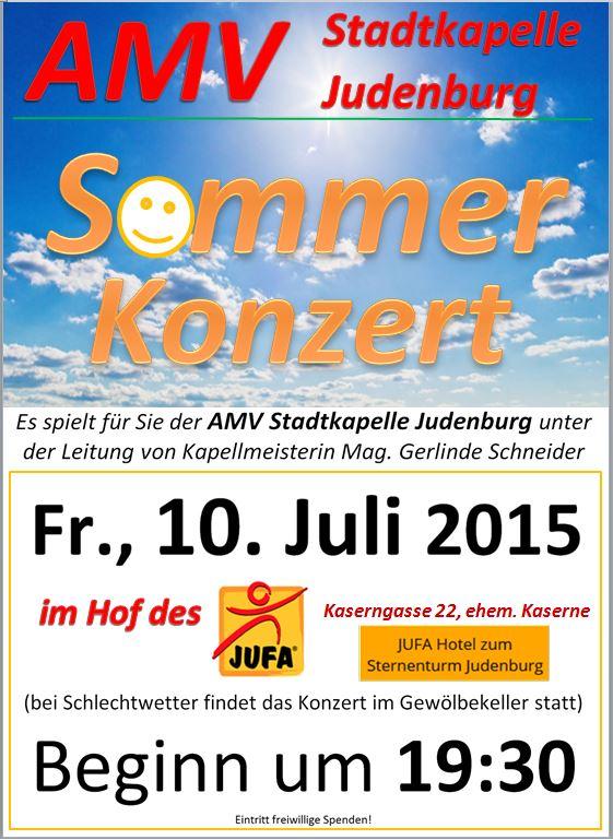 Einladung Sommerkonzert AMV 10. Juli 2015